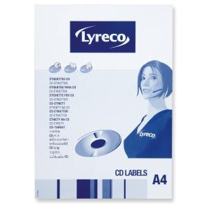 Lyreco monitoimi CD-tarra 114,5mm, 1 kpl=50 tarraa