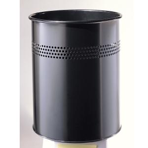 Twinco roska-astia metallinen 14,7 l, musta