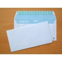 Caixa 500 envelopes brancos LYRECO papel offset. Dim: 115 x 225 mm