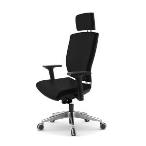 Cadeira de direçao Blex800 com mecanismo sincronizado com cabeceiro preto