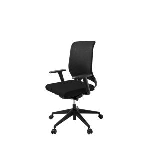 Cadeira de mecanismo sincronizado LYRECO RS 15C sem encosto de cabeça cor preto