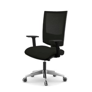 Cadeira de contato permanente LYRECO SN10 con malha cor preto