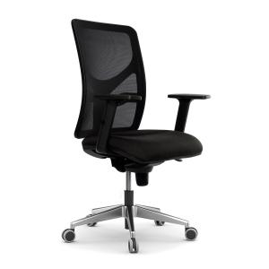 Cadeira de mecanismo sincronizado LYRECO PM10 cor preto
