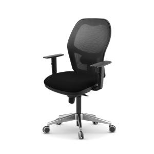 Cadeira de mecanismo sincronizado LYRECO PS10 con malha cor preto