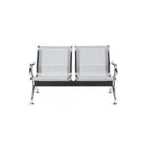 Bancada metálica braços LYRECO 2 assentos cor cinza Dim: 1220x800x750 mm