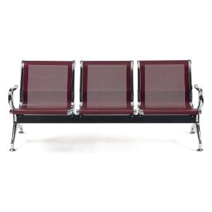 Bancada metálica braços LYRECO 2 assentos cor vernelho Dim: 1220x800x750 mm