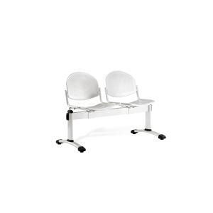 Bancada metálica sem braços LYRECO 2 assentos cor cinza Dim:1230x820x600 mm