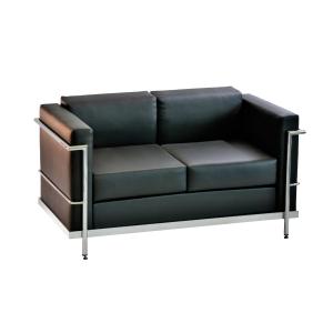 Cadeira sala de espera LYRECO Serie 5000 2 assentos preto Dim: 1280x750x700 mm