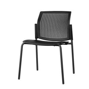 Cadeira de recepçaõ LYRECO de polipropileno cor preto