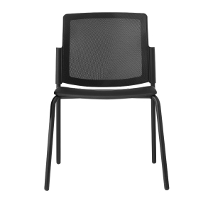 Cadeira de recepçaõ LYRECO LGM40 de polipropileno cor preto