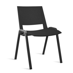 Cadeira de recepçaõ LYRECO K3P40 de polimero reciclable cor preto