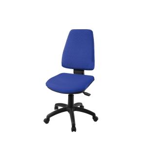 Cadeira de mecanismo basculante LYRECO BUDGET SDN10 cor azul