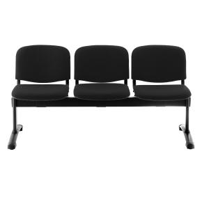 Bancada de 3 assentos LYRECO estofada estrutura de metal Dim: 1500x780x430 mm
