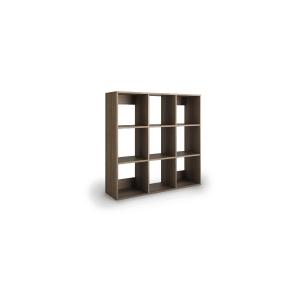 Livraria Lyreco 9 caixas com medidas 128x40x128 carvalho