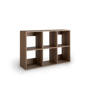 Livraria Lyreco 6 caixas com medidas 86x40x128 nogueira
