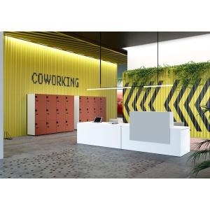 Mesa com mostrador para recepção faia natural