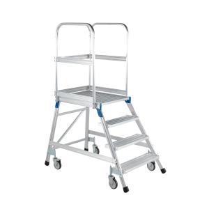 Escada profissional ZARGES com plataforma extragrande 4 degraus