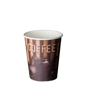 Pacote de 50 copos de papelão 180 ml Coffee Time