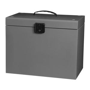 BOX ELBA METÁLICO CLASSIC A4 CINZA