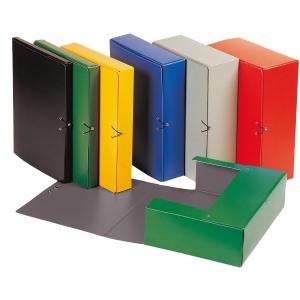 Caixa de projetos cartão com presspanlombada 90 mm cor vermelho KARMAN