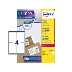 Caixa de 400 etiquetas para impressão laser AVERY L7169-100 cantos romos brancas