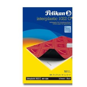 Pacote de 10 folhas de papel quimico preto PELIKAN