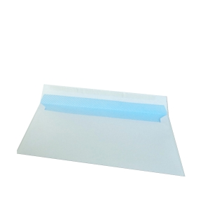 Caixa 500 envelopes brancos LYRECO papel offset. Dim: 176x 231 mm