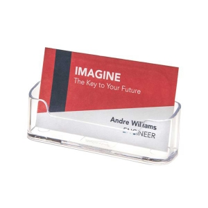Expositor horizontal de  visita cartão