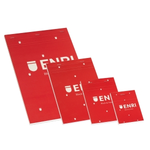 Bloco agrafado ENRI capa mole A6 80 folhas 4x4 Vermelho