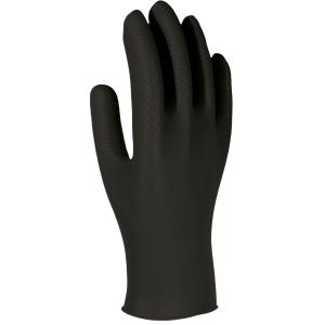 Caixa de 50 luvas descartáveis 3L Unigrip Or nitrilo preto tamanho 10