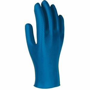 Caixa de 50 luvas descartáveis 3L Unigrip Or nitrilo azul tamanho 9
