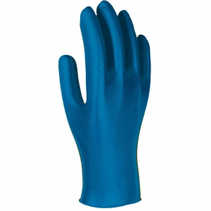 Caixa de 50 luvas descartáveis 3L Unigrip Or nitrilo azul tamanho 8