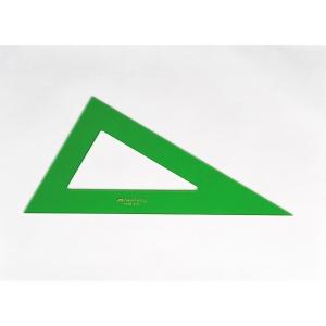 Esquadro escaleno de PVC verde de 60º FABER CASTELL