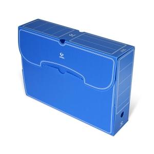 Caixa de arquivo morto 263x360x95 mm folio azul