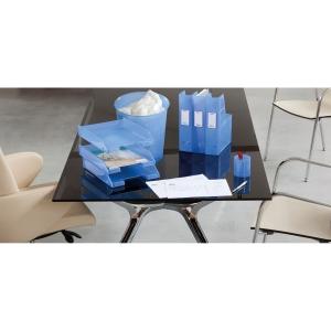 Papeleira 15 l  azul translúcido ARCHIVO 2000  Dimensões: 310mm altox290mm diâm