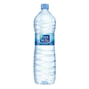 Pack de 12 garrafas de água FONT VELLA 1,5l