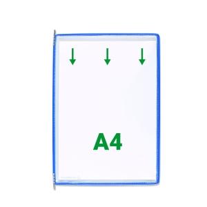 Pack de 10 bolsas A4 para classificador de parede ou secretaria azul T-TECHNIC