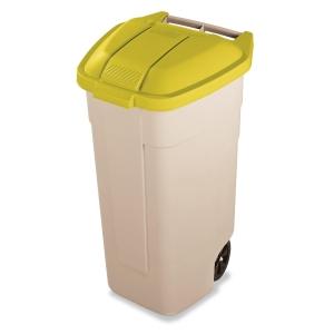 Tampa amarela para contentor de residuos RUBBERMAID