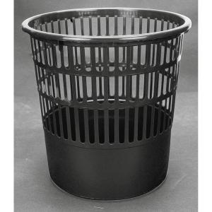 Papeleira 16 l grade preta Inco  Dimensões: 320mm alto x 300mm diâmetro