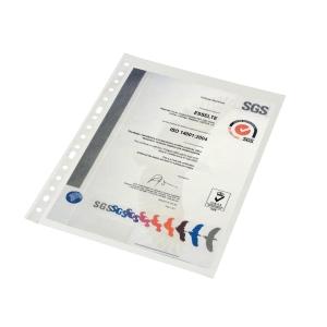 Pack de 100 bolsas multifuração A4 11 furos PP cristal 80micras ESSELTE