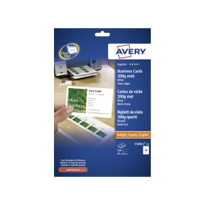 Pack de 250 cartões-de-visita recicláveis AVERY C32011-25