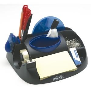 Organizador secretaria cor preta c/4 compartimentosmAPED  Dimensões: 60x80x100mm