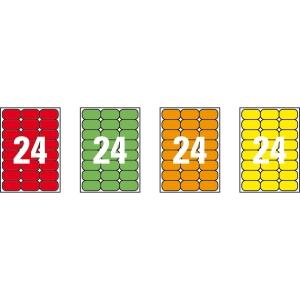 Caixa de 480 etiquetas impressão laser APLI 02871 laranja fluorescente