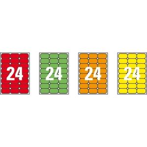 Caixa de 480 etiquetas impressão laser APLI 02873 verde fluorescente