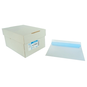 Caixa 250 envelopes brancos LYRECO papel offset. Dim: 17 6x 231 mm