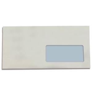Caixa 500 envelopes brancos LYRECO papel offset janela direita Dim: 115 x 225 mm