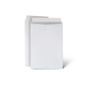 Caixa 250 bolsas brancas LYRECO. Dim: 260 x 360 mm