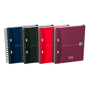 Caderno espiral 100 folhas A5,microperfurado,quadricula 5mm,90gm/2 OXFORD Office