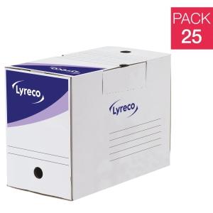 Pack 20 caixas arquivo definitivo formato A4 LYRECODim: 250x330x200 mm