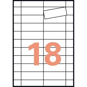 Caixa de 90 etiquetas magnéticas APLI 10388 inkjet cantos rectos APLI 80 x 28 mm